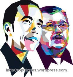 Jokowi JK Jusuf kalla sketsa