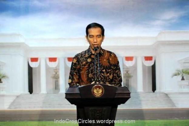 Jokowi pidato di istana negara