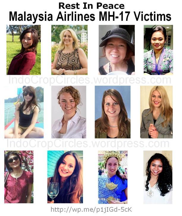 korban wanita MH-17 female victims