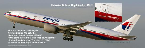 Malaysian Airlines MAS flight number MH-17