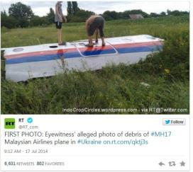 Salah satu puing Malaysia Airline MH-17 via:RT@twitter.
