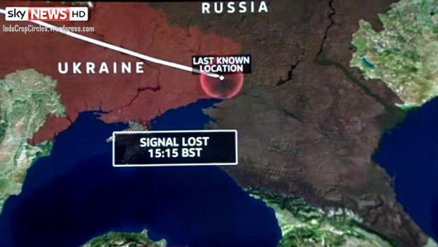 MH-17 crashed site ukraine border