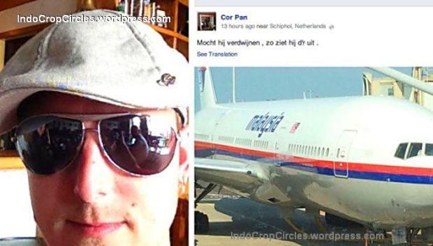 Cor Pan (kiri), penumpang pesawat Malaysian Airlines MH17 yang jatuh di Donetsk, Ukraina sempat mengunggah foto pesawat naas ini ke akun Facebook miliknya. Nationalpost.com
