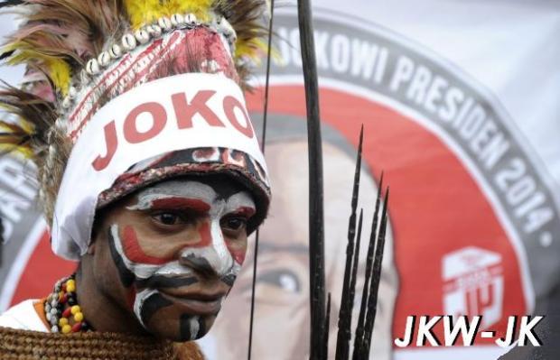 warga papua di bundaran HI Jakarta dukung Jokowi