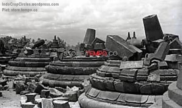Candi Borobudur Setelah Peledakan di Magelang, Jawa Tengah (Syahril Chili, tempo.co)