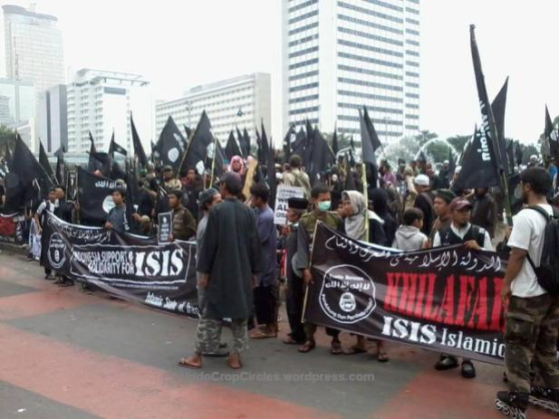 ISIS di Bundaran HI, Jakarta.