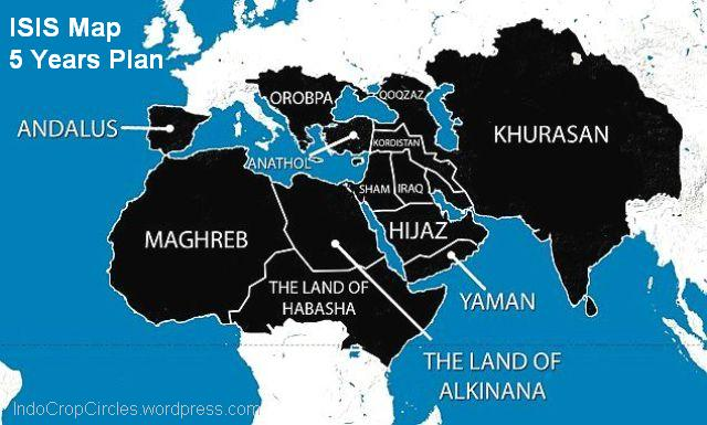 ISIS map 5 years