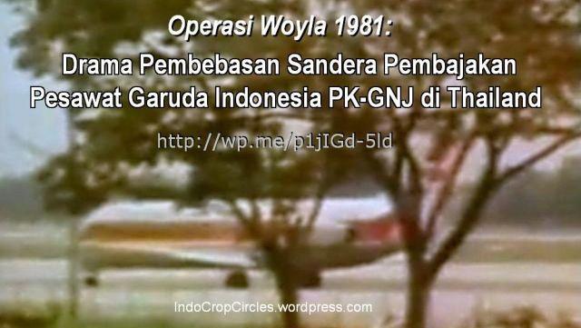 Operasi Woyla operation Garuda Indonesia hijacked banner