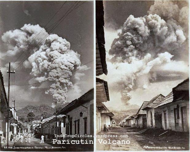 Paricutin volcano mexico 1943 07