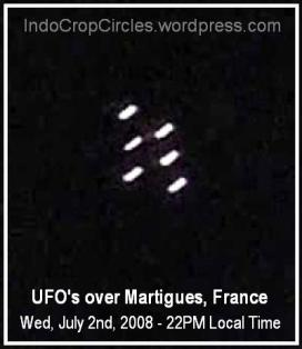 ufo over Martigues France Perancis July 2, 2008