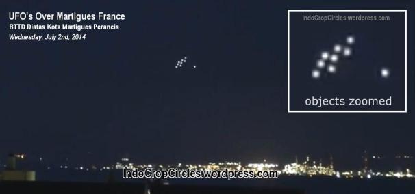ufo over Martigues France Perancis