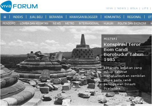 [Photo] Konspirasi Pengeboman Candi Borobudur 1985