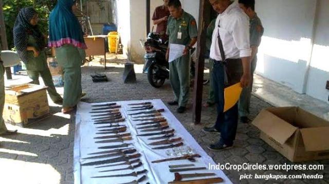 ditemukan puluhan bilah keris di Pangkalpinang