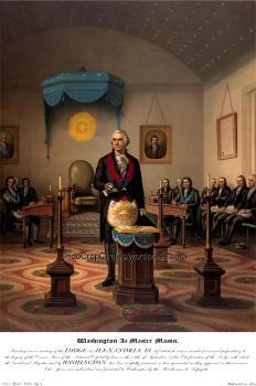 George Washington_Masonic_painting picture