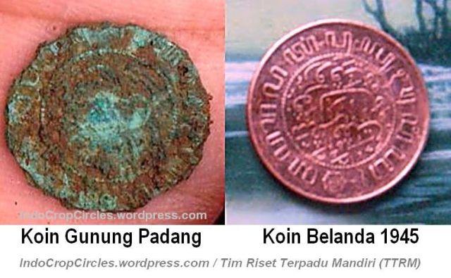 Gunung-Padang-Artefak-koin-gunung-padang vs koin belanda 1945