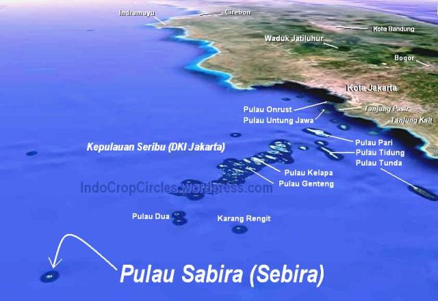 P Sabira thousand Islands Pulau Seribu Jakarta satelite map 4