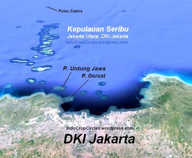 Pulau Sabira satellite map 2
