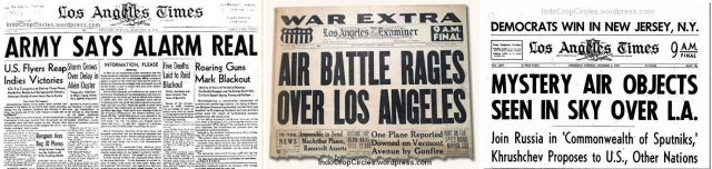 the Battle of Los Angeles newspapers media