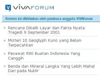 vivanews 911, geoglyph pesawat r80, mineral langka