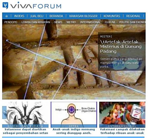 vivanews artefak gunung padang