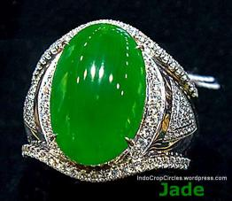 Jadeite cabochons are very classical. Some high quality cabochons are worth a fortune.