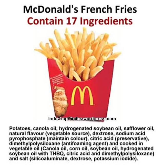 bahaya potato chip Mc Donald