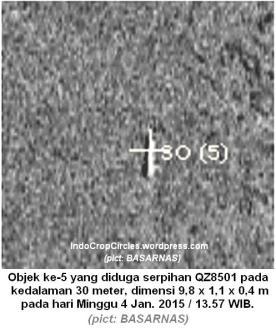 Air Asia 8501 under water sonar BPPT dibawah laut Baruna jaya temukan objek besar 05