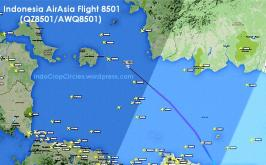 AirAsia QZ 8501 PK-AXC missing rute 04