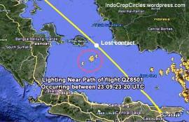 Penampakan petir di jalur AirAsia QZ 8501 PK-AXC jurusan Surabaya - Singapura