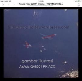 bangkai serpihan AirAsia 8501 wreckage
