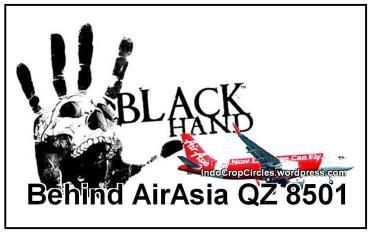 blackhand behind AirAsia QZ8501 banner