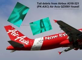 debris puing serpihan ekor Air Asia A318-321 (PK-AXC) found compare 01