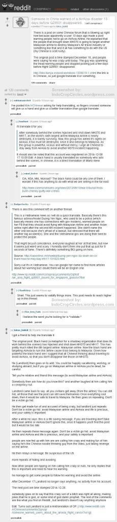 forum reddit about Air Asia QZ8501