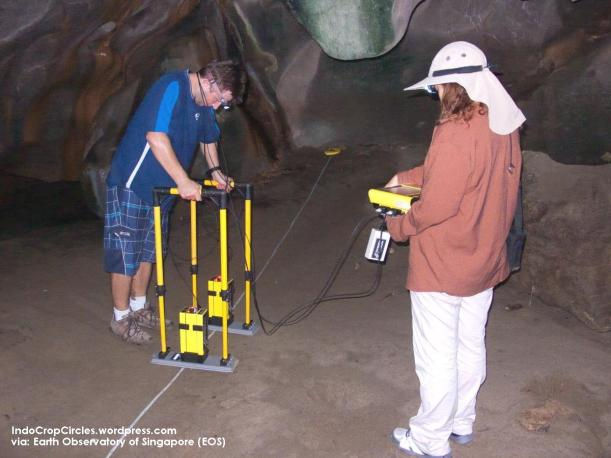 GPR survey in the cave, Aceh, Indonesia