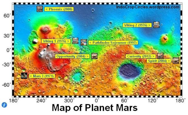 Image map of Mars