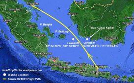 kordinat hilang kontak AirAsia QZ 8501 PK-AXC