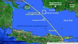 Lokasi serpihan dan jenazah AirAsia QZ8501 PK-AXC