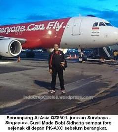 Penumpang AirAsia yang hilang, Gusti Made Bobi Sidharta