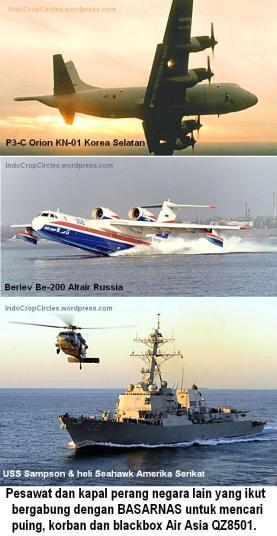 pesawat dan kapal perang asing ikut bantu pencarian AirAsia QZ8501