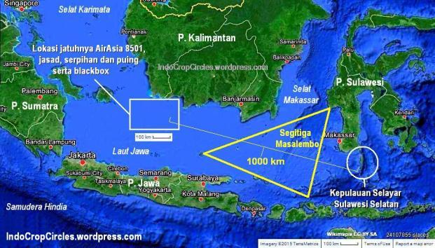 segitiga masalembo - puing barang korban airaisa 8501 sampai kepulauan selayar sulawesi selatan sulsel