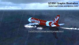 airasia QZ 8501 landing on the sea water