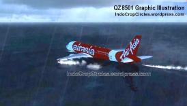 airasia QZ 8501 landing on the sea water