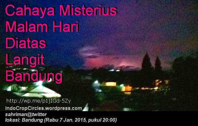 Cahaya Misterius Diatas Bandung  banner
