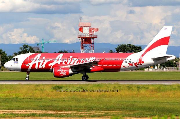 Inilah pesawat Airbus A320-200 milik AirAsia Thailand registrasi HS-ABL yang kembali ke Bangkok setelah mengudara.