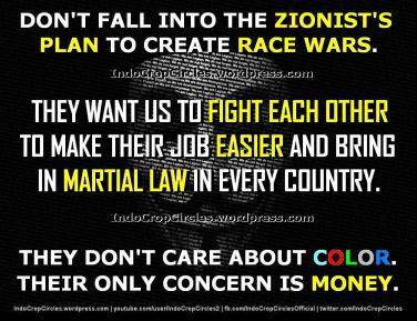 racism wars  by zionism perang rasis