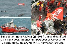 tail AirAsia QZ-8501 lifted found by Crest Onyx