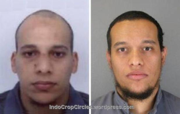 tersangka penembakan paris shooting Chérif Kouachi and Said Kouachi