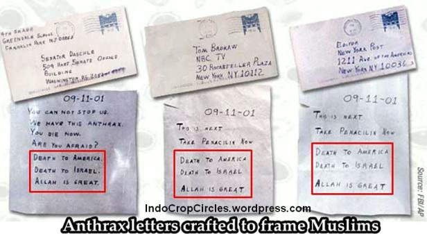 Anthrax written letters
