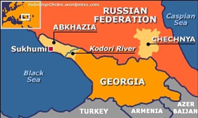 Abkhazia map russia