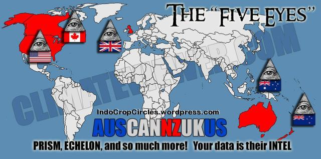 five eyes New World Order Surveillance Map